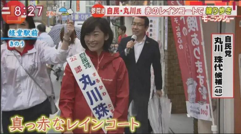 丸川珠代の選挙写真