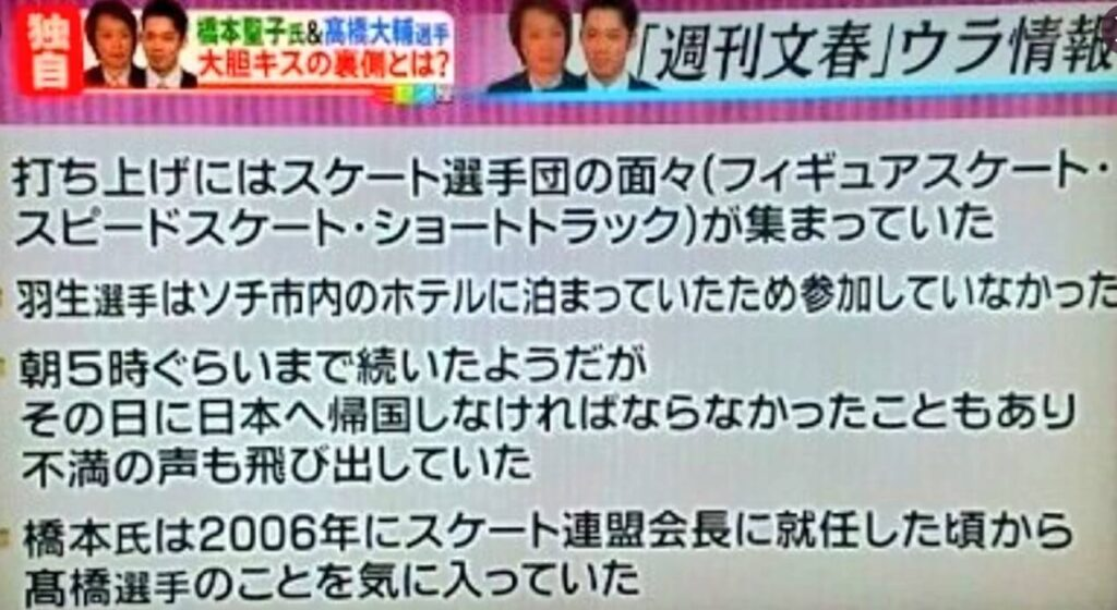 橋本聖子のソチ冬季五輪でのキス強要画像がヤバイ!