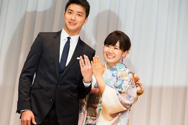①2016年9月1日:福原愛が台湾出身の卓球選手・江宏傑さんと結婚