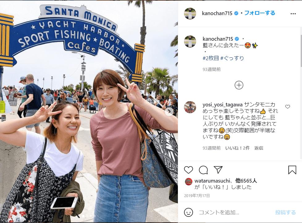 狩野舞子は2019年の誕生日もロスを訪問