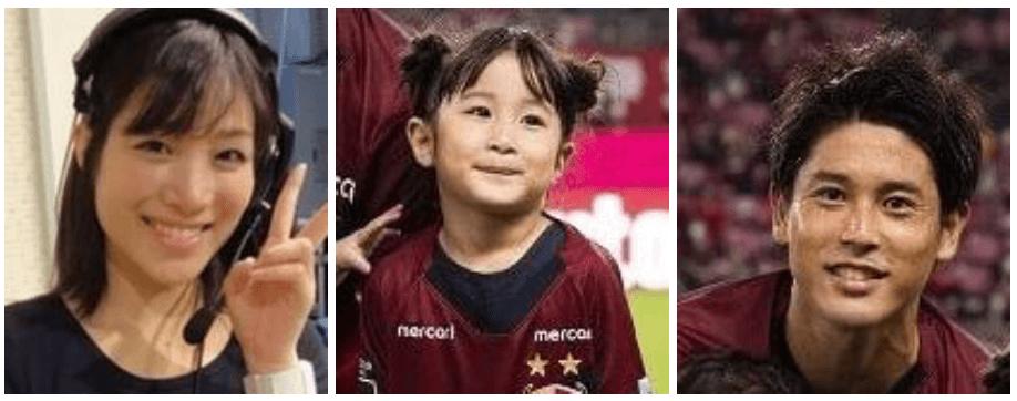 内田篤人の娘は両親どっちに似てる?