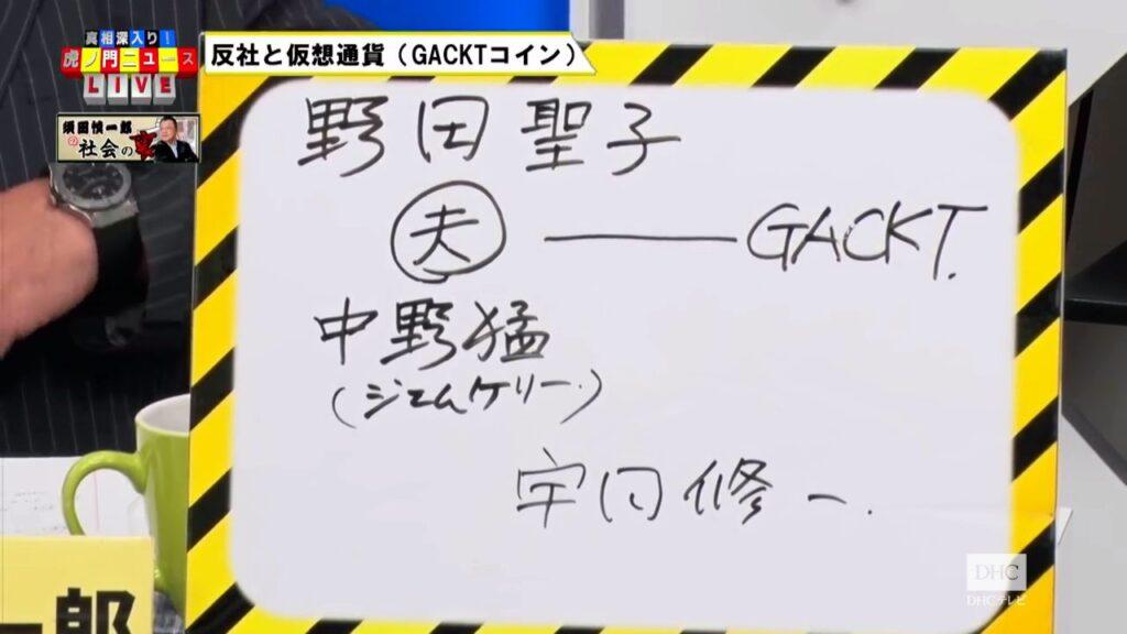 野田文信はGACKTの仮想通貨『スピンドル』の胴元だった!