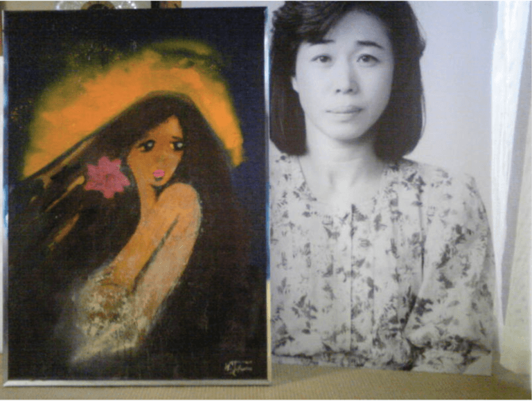 高須克弥さんがシヅさんをモデルにして描いた肖像画
