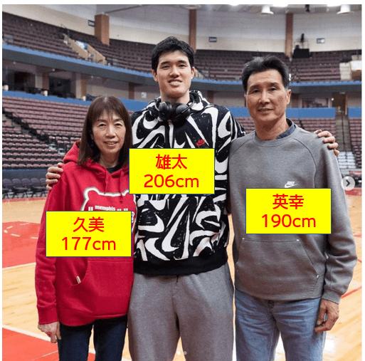 渡邊雄太の家族構成 家族の身長