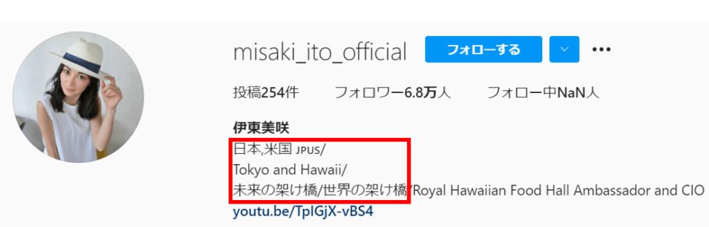 伊東美咲は東京とハワイを拠点に活動