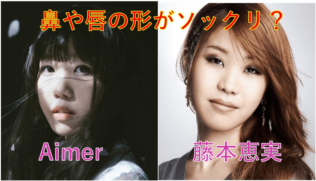 Aimer(エメ)と藤本恵実はソックリ?